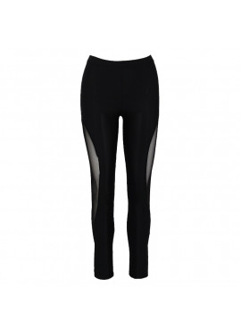 Leggings with transparent detail on the side