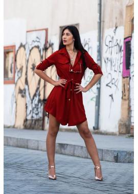 Σεμιζιέ φόρεμα με κουμπιά