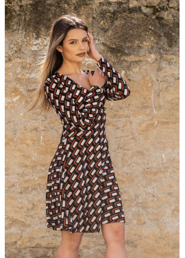 Long sleeve dress with print