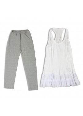 Set leggings - blouse with ruffles