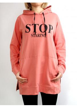 "Sweatshirt with print ""STOP"""