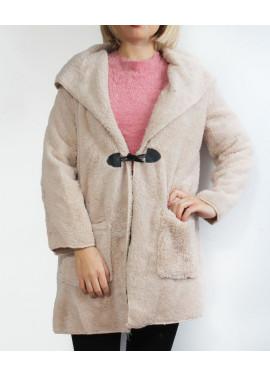 Cardigan with fur montgomery
