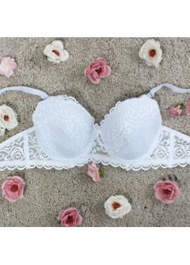 Plain colored lace bra