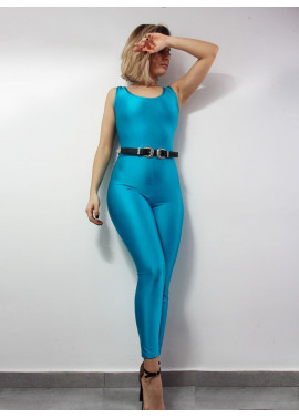 Fitted glossy jumpsuit