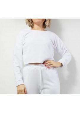 Plain colored crop blouse
