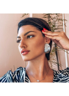 Long leaf shaped earrings